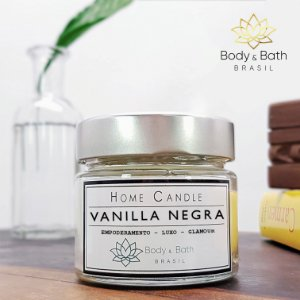 Vela Aromática Vanilla Negra