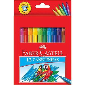 Caneta Hidrográfica 12 Cores 1014743 Faber Castell