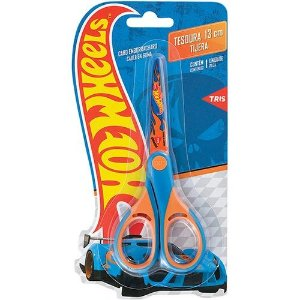 Tesoura Hot Wheels 13cm Tris