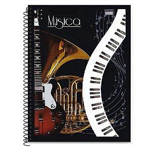 Caderno de Música Universitário Espiral Capa Flexível 50 folhas São Domingos