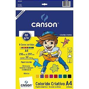 Bloco Criativo 8 Cores A4 80g/m² Canson