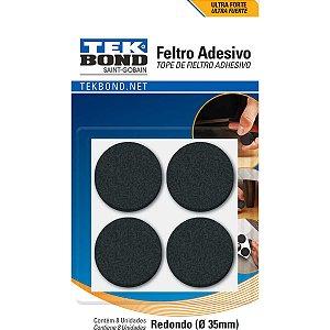 Acessório Para Casa Feltro Adesivo Redondo 35mm Pt Tekbond