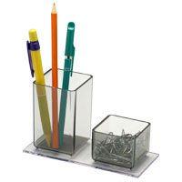 Acessório Para Mesa Lápis/Clips Acrílico Cristal Acrimet