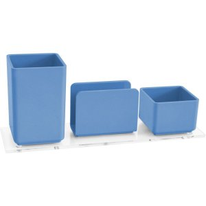 Acessório Para Mesa Lápis/Clips/Lembrete Azul Acrimet