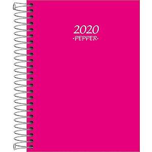 Agenda Tilibra 2021 Pepper Rosa Espiral Cd 160fls Tilibra