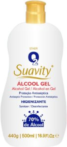 Álcool 70 Gel Suavity Antisspetico 500ml Di Bella Sp