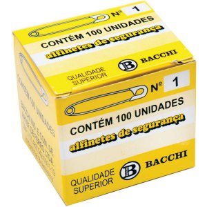 Alfinete Segurança N.1 Aço Niquelado Bacchi