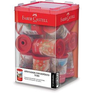 Apontador Com Deposito Decor. Tubo Plastico Decorado Subst. Faber-Castell