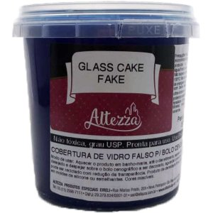 Artigo Para Festa Glass Cake Fake Transp.Az.390g Altezza