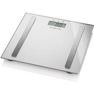 Balança Eletrônica Digi-Health Pro Lcd 180g Prata Multilaser