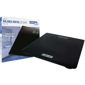 Balança Eletrônica Digital Kokay Ate 180kg Preta Santana Centro