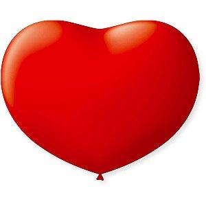 Balão Coração 11pol. Vermelho Quente Sao Roque