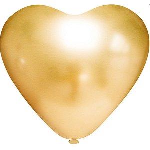 Balão Coração N.010 Coracao Platino Ouro Riberball