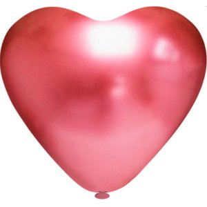 Balão Coração N.010 Coracao Platino Vermelho Riberball