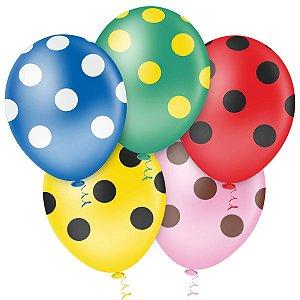 Balão Decorado N.010 Bolinha Sortidos Riberball