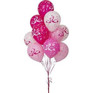 Balão Decorado N.010 Flamingo Riberball