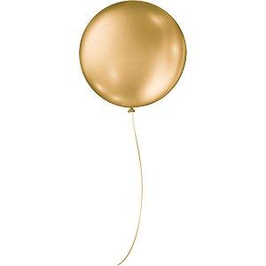Balão Metalizado N.05 Redondo Dourado Sao Roque