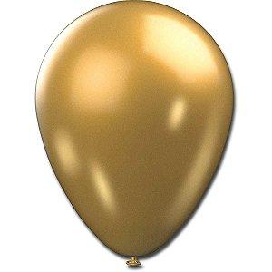 Balão Metalizado N.090 Dourado Sao Roque