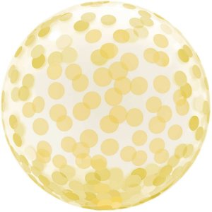 Balão Para Decoração Redondo Bubble Estampado Dourad.45cm. Mundo Bizarro