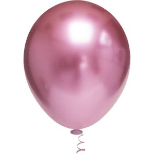 Balão Para Decoração Redondo N.010 Platino Rosa Riberball