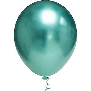 Balão Para Decoração Redondo N.010 Platino Verde Riberball