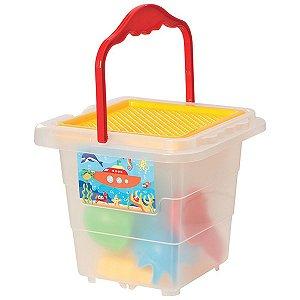 Baldinho De Praia Menino Com Moldes E Pa Merco Toys