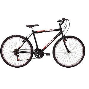 Bicicleta Aro 26 Thunder 18v. Preta Track Bikes