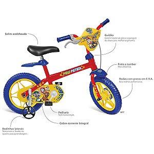 Bicicleta Patrulha Canina Aro 12 Brinq. Bandeirante