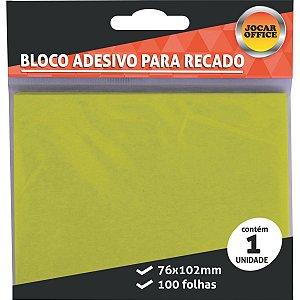 Bloco De Recado Autoadesivo Jocar Amarelo 76x102 100fls. Leonora