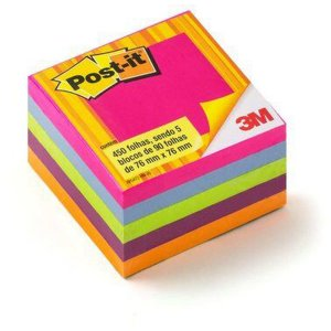 Bloco De Recado Post-It 654 Tropical 76x76mm 450 Fls 3m