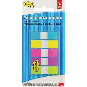 Bloco Marcador Página Adesivo Flags 5cores Neon 100fls. 3m