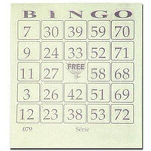 Bloco Para Bingo Amarelo 110x100mm 100 Folhas Grafica Guerra