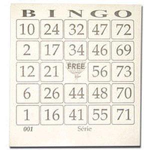 Bloco Para Bingo Jornal 110x100mm 100 Folhas Grafica Guerra