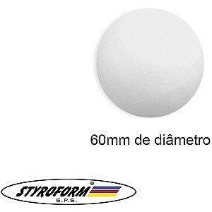 Bola De Isopor (Eps) 060mm Pacote C/30 Bolinhas Styroform