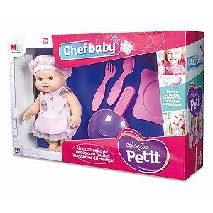 Boneca Petit Chef Baby C/Acessórios Milk