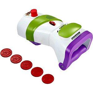 Boneco E Personagem Toy Story Buzz Lancador Discos Mattel