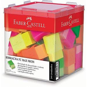 Borracha Colorida Fc Max Neon 4 Cores Sort. Faber-Castell