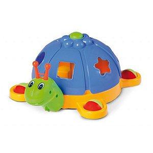Brinquedo Educativo Caracol C/Blocos E Puxador Tateti