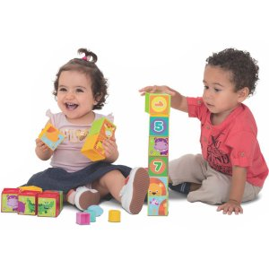 Brinquedo Educativo Cubinhos 5 Em 1 Merco Toys