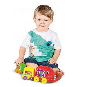 Brinquedo Educativo Locomotiva Animada Tateti