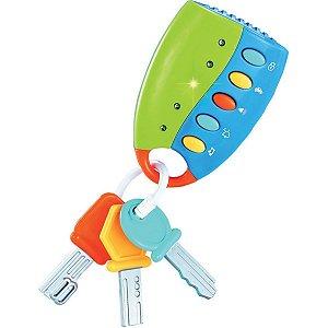 Brinquedo Para Bebê Controle De Chaves Musical 980 Toy Mix