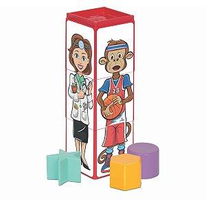 Brinquedo Para Bebê Cubinhos 4 Em 1 Expressoes Merco Toys