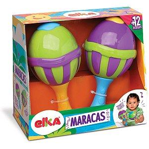 Brinquedo Para Bebê Maracas C/Sons Elka