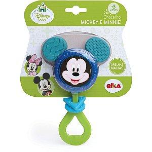 Brinquedo Para Bebê Mickey Chocalho Elka