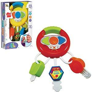 Brinquedo Para Bebê Mini Volante C/Som E Luz Art Brink