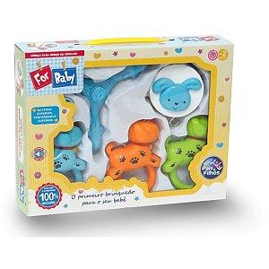 Brinquedo Para Bebê Mobile P/Berço Cachorro Musica Pais E Filhos
