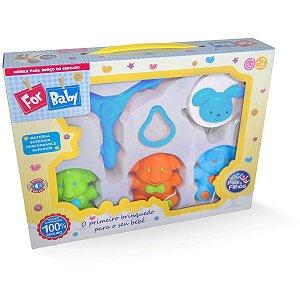 Brinquedo Para Bebê Mobile P/Berço Elefante Musica Pais E Filhos
