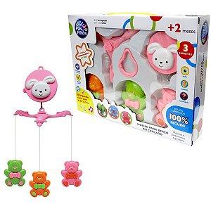 Brinquedo Para Bebê Mobile P/Berço Urso Musical Pais E Filhos