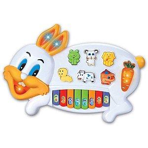 Brinquedo Para Bebê Piano Musical Coelhinho Braskit