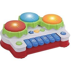 Brinquedo Para Bebê Piano Musical Tres Tambores Braskit